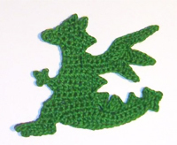 Chinese New Year applique dragon