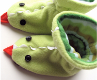 Chinese New Year dragon slippers