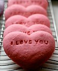 Valentine sugar cookie conversation hearts