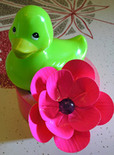 make a duct tape flower barrette