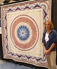 quilter at craft fair