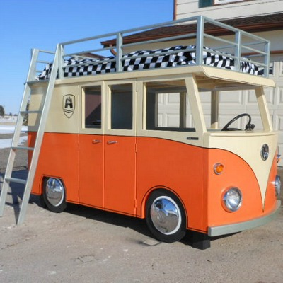 VW micro-bus bunk bed