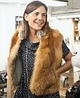 Jenni Avins wears handmade fox vest