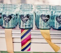 chalkboard paint on mason jars