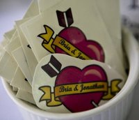 customized tattoos wedding favors