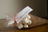 hot chocolate wedding favor