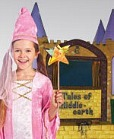 child in costume at craft fair