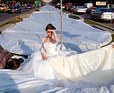 record-breaking wedding dress train