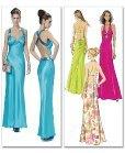 floor-length sheath ball gown