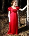 red regency ball gown costume