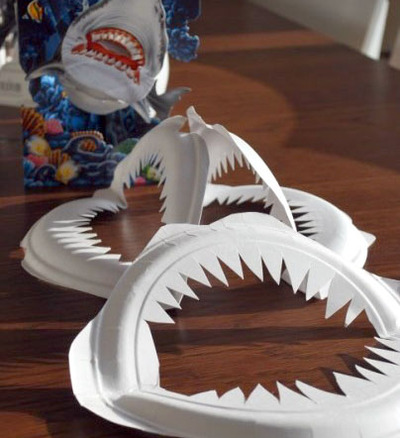 shark mouth paper plate