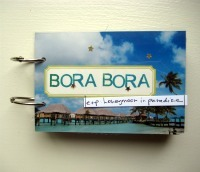 mini travel scrapbook album