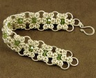 crochet metal bracelet from craft fair
