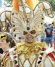 man in costume at craft fair