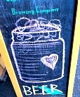 beer sign at craft fair