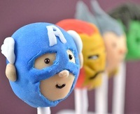 "Captain America of ""The Avengers,"" in cake pop form"