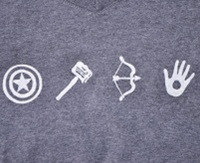 """The Avengers"" superhero shirt"