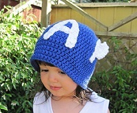 Crocheted Captain America hat