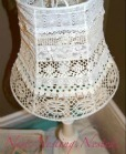 Lampshade made from lace