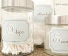 jars with labels describe q-tips, samples