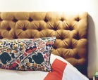 headboard with fabric and tufts