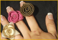 Zipper Rings Flowers