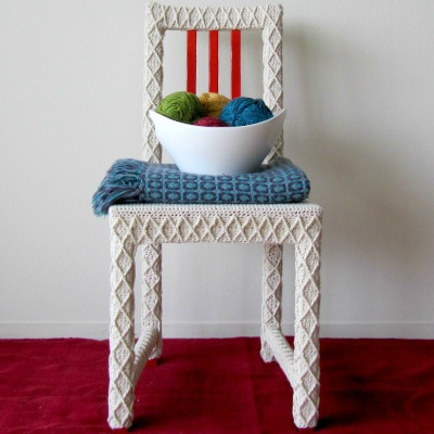 yarn bomb home decoration