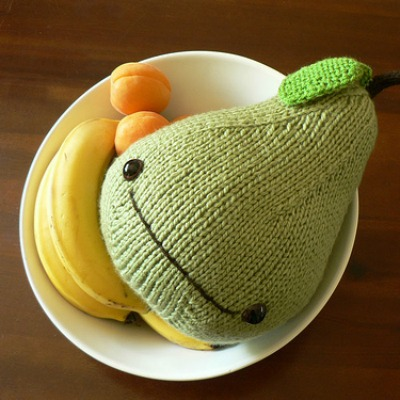 knit fruit home decoration