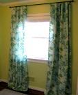 Long curtains for the nursery