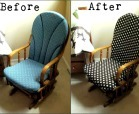 Recover a nursery rocker chair