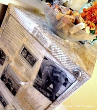 Filing Cabinet Makeover with Old Book Pages