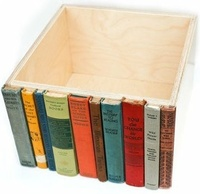 Make an Upcycled Book Spine Storage Bin