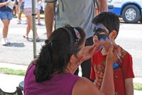 Face painting at Rivahfest