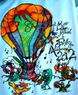 A T-shirt design promoting the Hot Air Balloon Festival