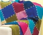 square afghan knit blanket