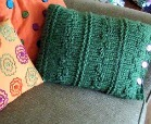 pillow knitting pattern for beginners