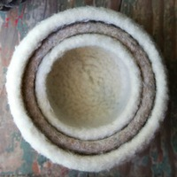 felted nesting bowls for knitting beginners
