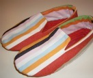 Striped House Slippers