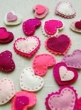 Felt Heart Hair Clips