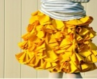 Sewing Bustles Ruffle Skirt