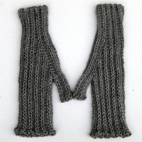 M Is For.... Mitts Fingerless Mittens Pattern by Kendra Nitta