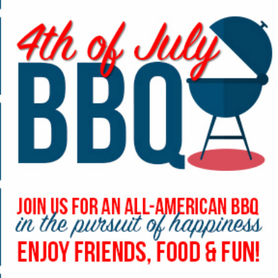 A 4th of July party invitation