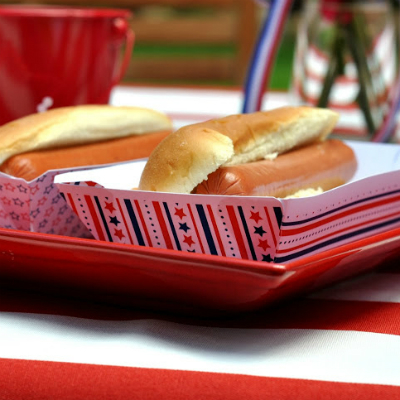 4th of July Craft--Patriotic Food Trays
