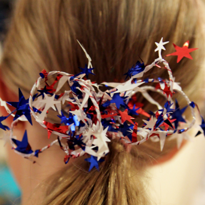 4th of July Craft--Hair Piece