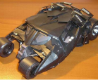 A paper model of the Tumbler from Batman Begins and Dark Knight.