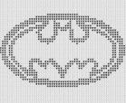 Batman Symbol Afghan Pattern