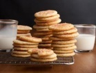 chewy buttermilk sugar cookies rolled in sugar