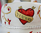tattoo wedding cake