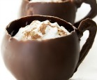 """Hot"" Cocoa -- Chocolate Mousse with cayenne pepper kick in a chocolate mug"