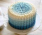 ombre petal cake